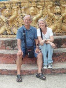 Visiteurs avec guide francophone au vietnam