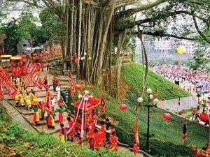 Fête du printemps au temple de Thuong