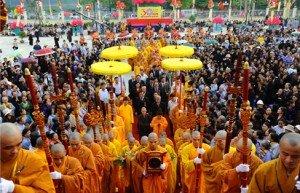 La fête bouddhique