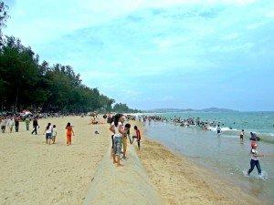 La plage de Canh Duong