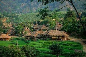 Maison d'hote chez habitant dans Le village Lac à Mai Chau