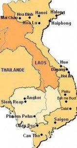 Carte pays Vietnam