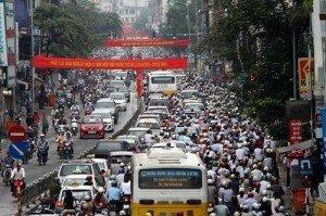 La rue Hanoi