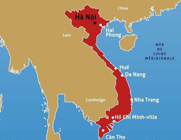 Carte du vietnam - Piscine ho chi minh ville ...