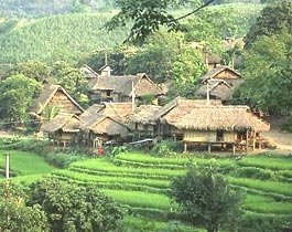 villages dans la Valle  de  Mai Chau