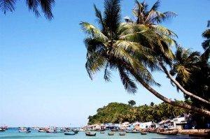 Un village de pêche à la plage Ngu, dans l'archipel de Nam Du