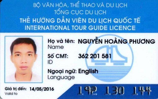 Carte de licence de guide international du Vietnam - Prix de guide francophone au vietnam